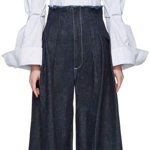 Jacquemus super wide leg high rise jeans